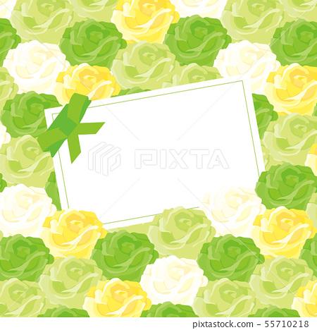 장미의 메시지 카드 - 녹색 장미 - 55710218
