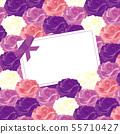 玫瑰留言卡 - 紫羅蘭 -  55710427