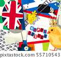 Watercolor Brittish Easter 55710543