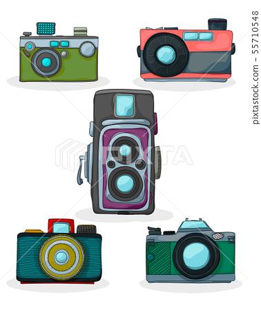 Vintage Camera Cartoon Stock Illustration 55710548 Pixta