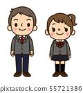 男女在学校的衣服 55721386
