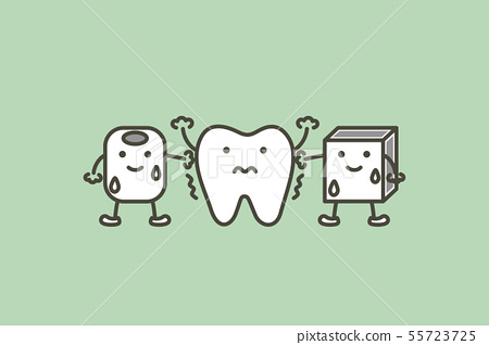 tooth feeling cold from ice, sensitive teeth 55723725