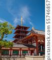 四天王寺中門和五層塔 55746857