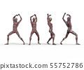 남성 해부학 근육 3DCG 일러스트 소재 55752786