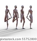 남성 해부학 근육 3DCG 일러스트 소재 55752800