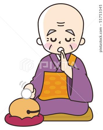 Senior man of priest who advocates sutra 55753345