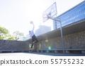 농구를하는 여성 55755232