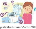 더러운 화장실과 곤란 여성 55756290