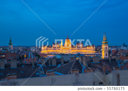 Hungarian Parliament Building in Budapest, Hungary 55780175
