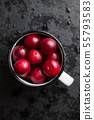 The red cherry plums fruit. 55793583