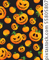 Halloween pumpkin seamless pattern on black 55805807