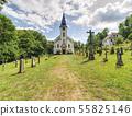 Church and graveyard in Zadni Zvonkova,  a border 55825146