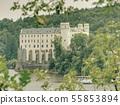 Monumental medieval gothic Orlik castle above 55853894