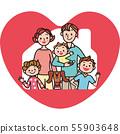 房子家庭心脏快乐 55903648