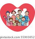 房子三代家庭心脏幸福 55903652