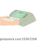 hand man are using a fax machine equipment  55907208