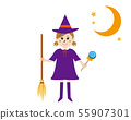 Halloween girl fancy dress cosplay 箒 hoshi witch 55907301