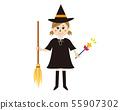 Halloween girl fancy dress cosplay 箒 hoshi witch 55907302