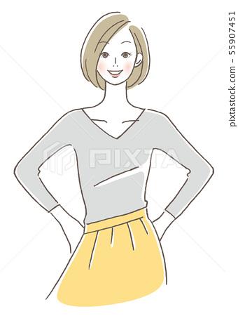 一個微笑的女人 55907451