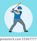 Baseball player with bat 55907777