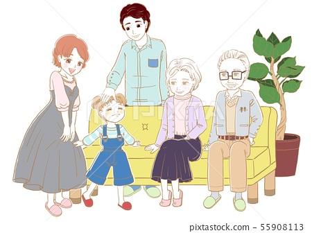 가족 단란 55908113