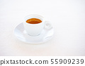 cup of espresso coffee over white background 55909239