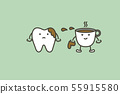 tooth are smudged from coffee 55915580
