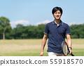 테니스 푸른 하늘 남성 이미지 55918570