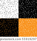 Halloween doodle seamless pattern set isolated on 55919297
