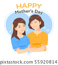 mother and daughter embrance 55920814