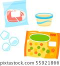 냉동실에 넣는 식품의 일러스트 세트 55921866