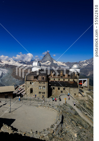 [Swiss Gornergrat Railway] Krumm Hotel and Matterhorn in Gornergrat 55922638