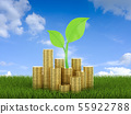 Financial growth concept 55922788