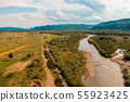 Beautiful landscape from the top shows the river 55923425