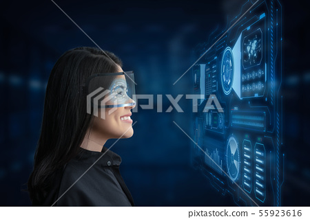 Woman enjoy goggle 55923616