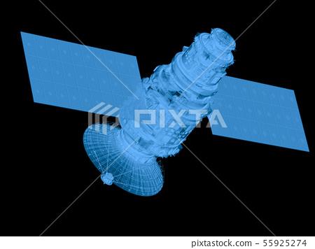 x ray satellite isolated on black 55925274
