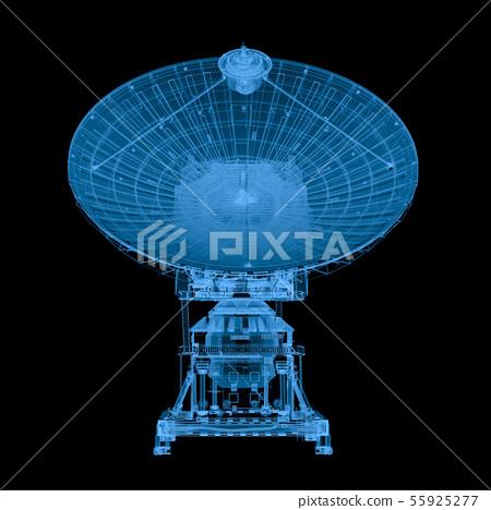 x ray satellite isolated on black 55925277
