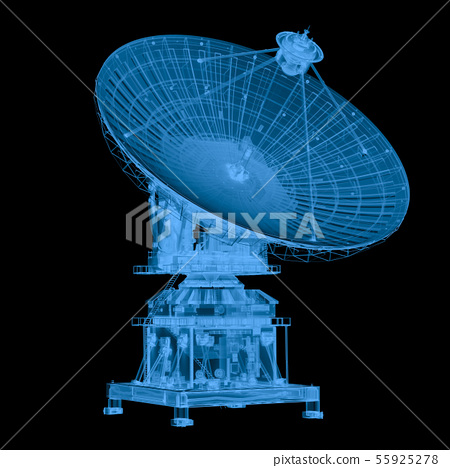 x ray satellite isolated on black 55925278