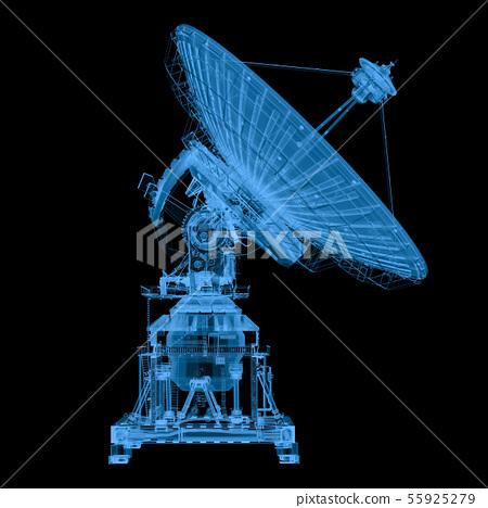 x ray satellite isolated on black 55925279