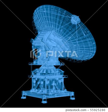 x ray satellite isolated on black 55925280