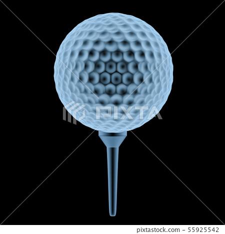 x ray golf ball on tee 55925542