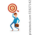 Arrow Achieved Target, Vector Happy Businessman 55927142