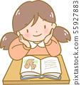 讀在書桌的女孩 55927883