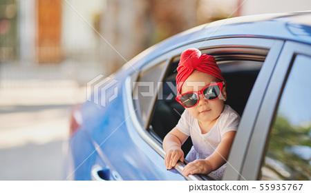 Cute liitle girl in sunglasses 55935767