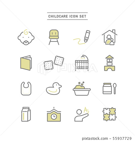 CHILDCARE ICON SET 55937729