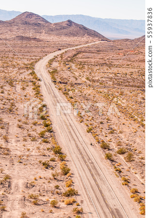 USA, desert, aerial view 55937836