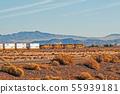 USA, freight train, electric diesel locomotive 55939181
