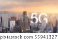 5G wireless internet technology in the city 55941327