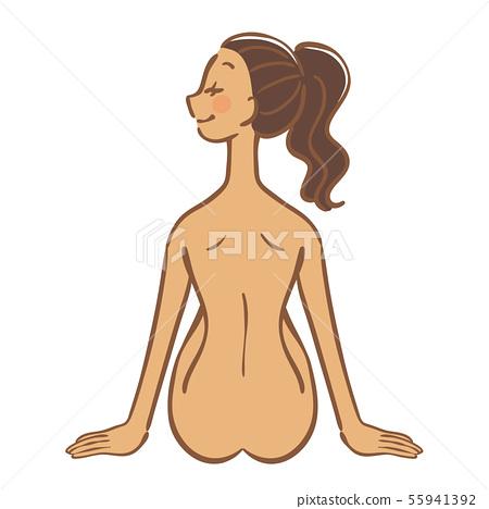 裸体女人,美女形象 55941392
