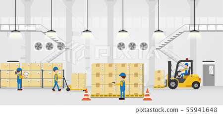 Warehouse in process 55941648